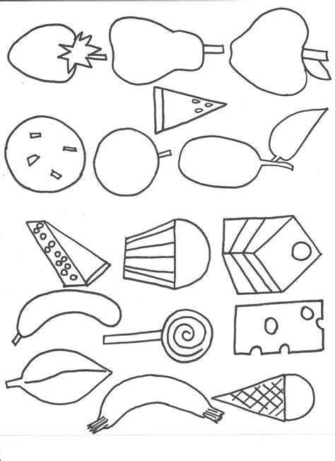 free coloring pages of hungry caterpillar