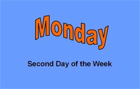 second day of week days of week lesson esl beginning level