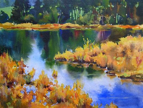 acrylic painting landscape williams quot september marsh ii