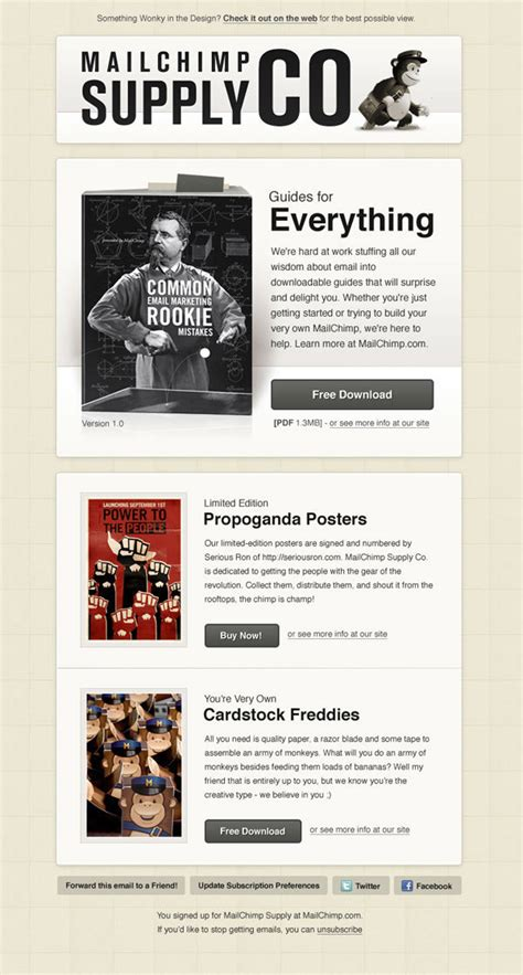 Beautiful Email Newsletters For Your Inspiration Ny French Geekny French Geek Free Mailchimp Newsletter Templates