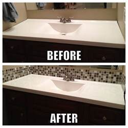 easy bathroom backsplash ideas square glass tile back splash makes a big difference in the bathroom with a builder grade mirror