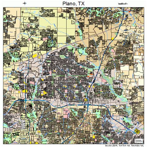 where is plano texas on a map plano texas map 4858016