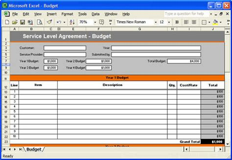 Service Level Agreement Sla Template Instant Download Service Level Agreement Template Excel