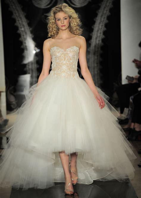 Wedding dresses high low hemline wedding gowns bridal market spring
