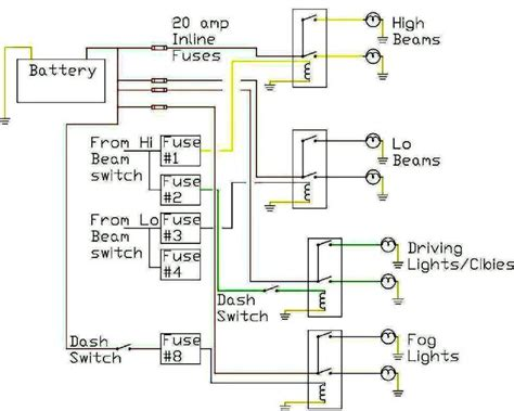 headlight relays where are the wires to the headlights