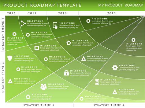 strategic roadmap template powerpoint four phase product strategy timeline roadmap powerpoint