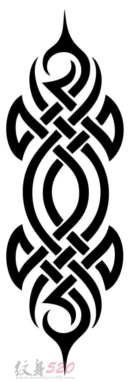 部落图腾纹身手稿 多款简单线条纹身黑色部落图腾纹身手稿