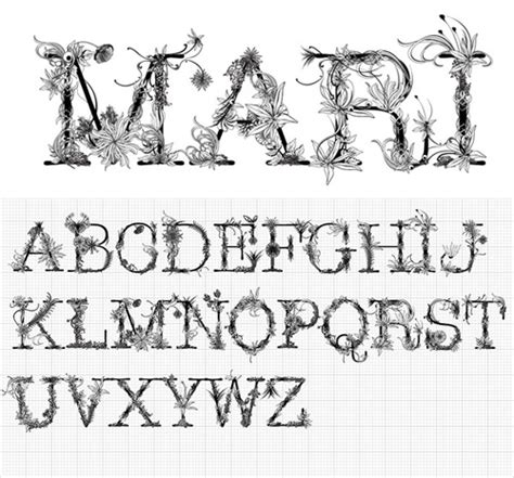design with font miche design fresh font designs