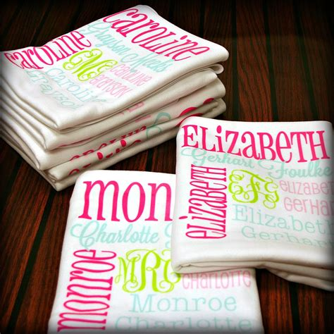 personalized blankets personalized baby blanket monogrammed baby by monogrammarketplace