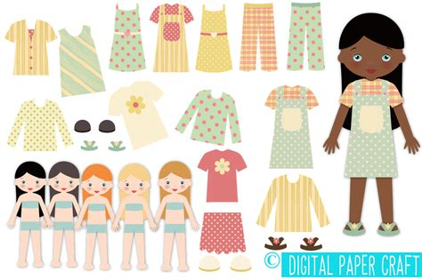How To Make Doll With Paper - paper doll digital paper doll cut out doll printable
