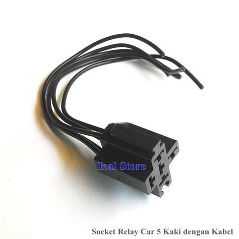 Socket Soket Relay With Kabel socket relay car 5 kaki dengan kabel ical store ical store