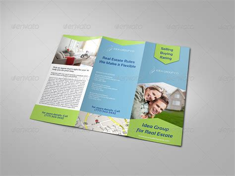 real estate tri fold brochure template by owpictures