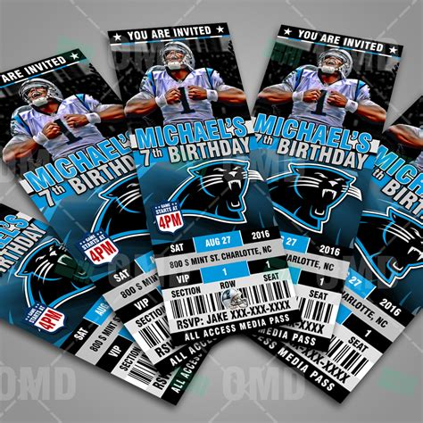 carolina panthers football ticket style sports party