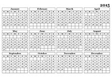 2015 yearly calendar template in landscape format 2015 calendar templates 2015 monthly yearly