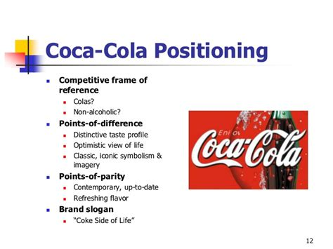 layout strategy of coca cola points of parity and points of difference coca cola