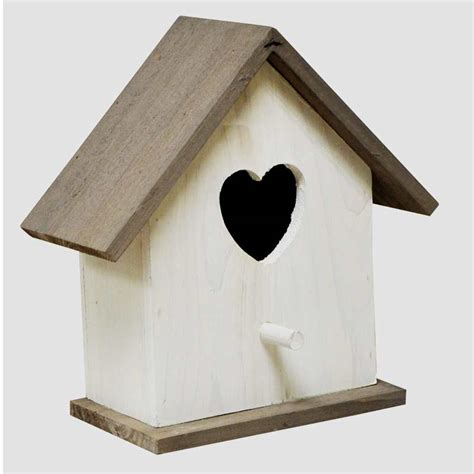white wooden wild bird nesting box on sale fast delivery