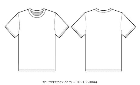T Shirt Flat Sketches by Flat Sketches Images Stock Photos Vectors