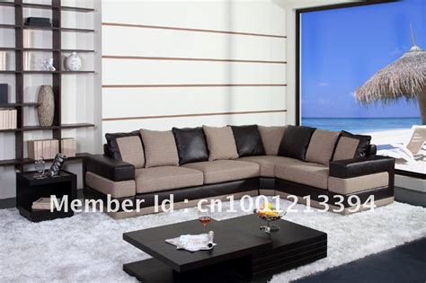 leather and fabric living room furniture aliexpress buy modern furniture living room fabric bond leather sofa sectional