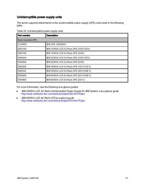 Ups Ibm 53952kx ibm system x3400 m3