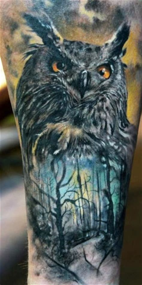 realistic owl tattoo 40 dangerous animal pictures golfian