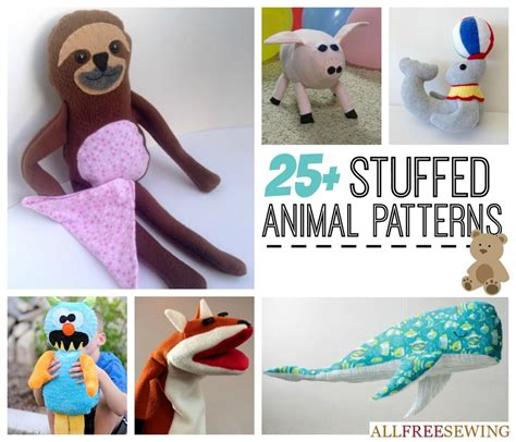 pattern for simple stuffed animal 25 easy stuffed animal patterns allfreesewing com