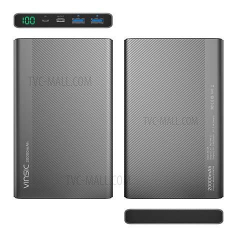 Power Bank Samsung Type A020 vinsic rohs power bank 20000mah type c smart power bank