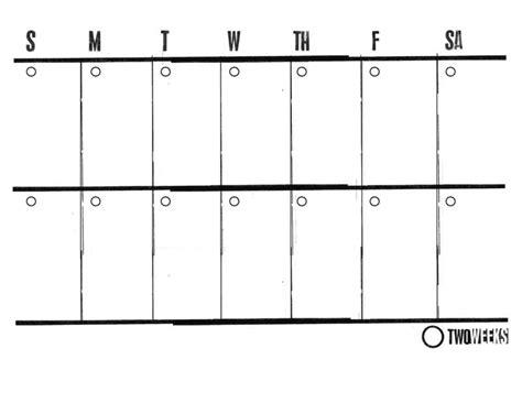 two week calendar template 2 week printable calendar printable calendar
