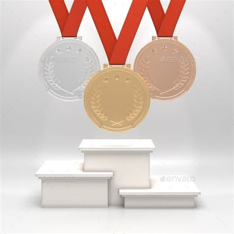 Paket Graphicriver medals and podium by paket graphicriver