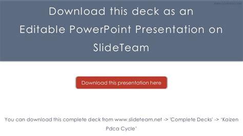 kaizen powerpoint templates kaizen pdca cycle powerpoint presentation templates