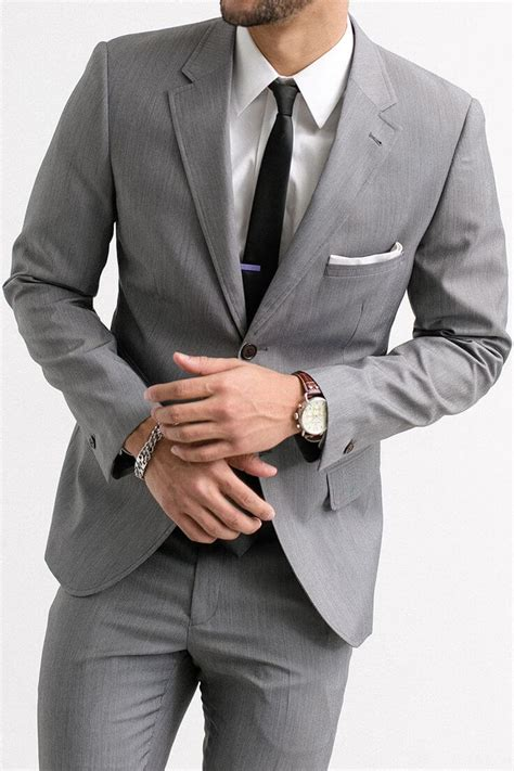 color suite the gray notch lapel suit s wardrobe essentials