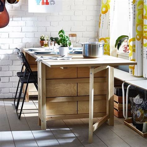 gateleg storage table 25 ways to use ikea norden gateleg table in d 233 cor digsdigs