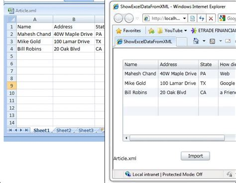 xml layout exle importing an excel file into a silverlight datagrid in xml