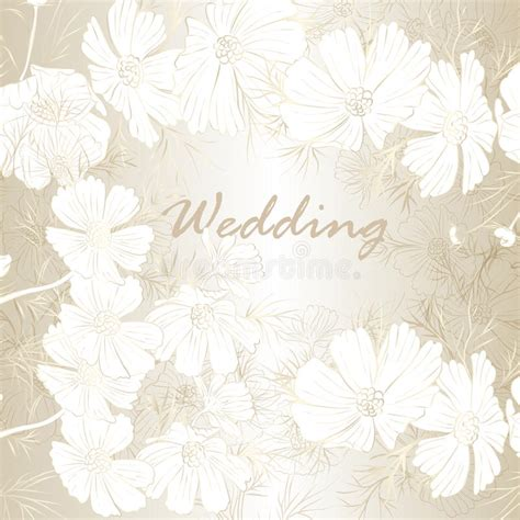 fashion elegant background with hand drawn flowers royalty elegant wedding background with flowers for design stock