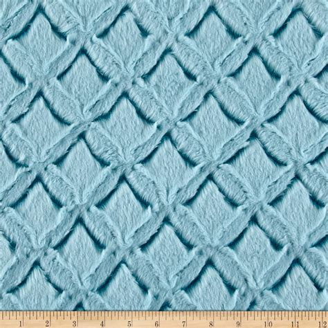 pattern minky fabric shannon minky frosted gem cuddle teal aqua discount