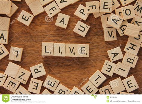The Word Live Stock Photo Image 41252404