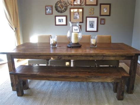 farmhouse table with bench and chairs high quality