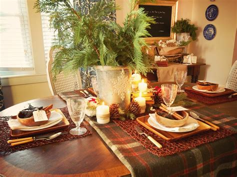 dining table for 8 rustic decorated christmas trees rustic winter table setting ideas hgtv