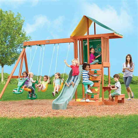 springfield swing set berkley big backyard wood swing set 2017 2018 best