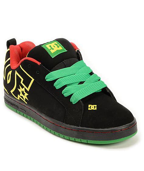 Dc Skate Lounge dc court graffic se rasta skate shoe at zumiez pdp