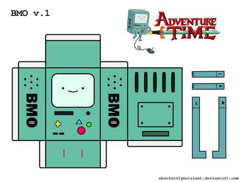 Adventure Time Paper Craft - bmo papercraft v 1 by absolutelynotalent on deviantart