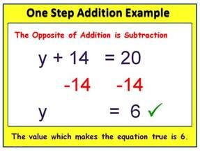 one step equations passy s world of mathematics