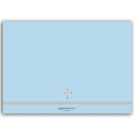 christening place cards template baptism invitations photo cross baby blue paperstyle