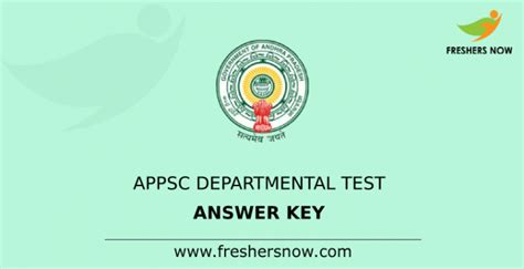 appsc departmental test answer key   released