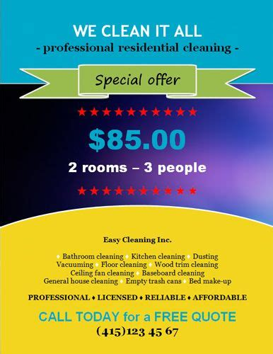 free house cleaning flyer templates 10 best free flyer templates microsoft word images on