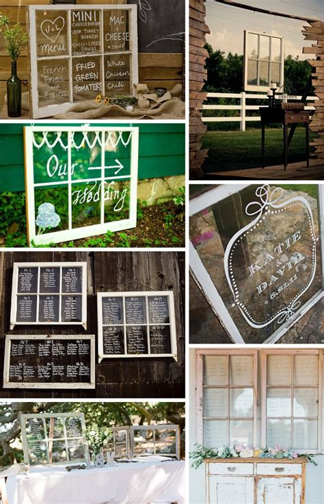 Wedding Window by Creative And Easy Table Card Ideas Window Frames