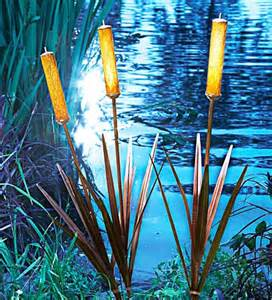 stakes for solar lights 3 solar cattail spike light yard stake water garden pond