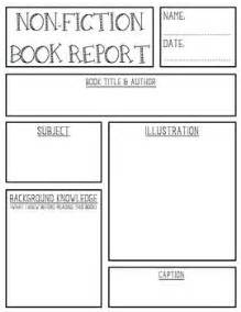 non fiction book report template nonfiction book