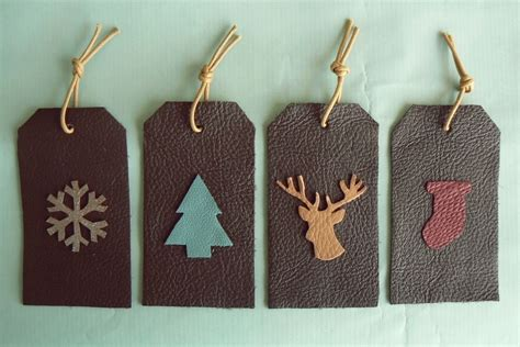 leather christmas gift tags 183 how to make a gift tag