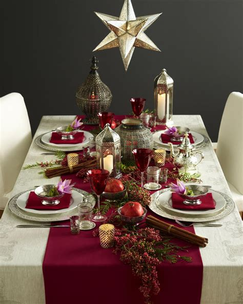 Christmas Dinner Decorations | ideas to decorate your christmas dinner table eat food