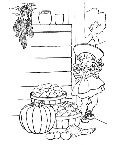 thanksgiving scene coloring page coloring pages farming scenes coloring home